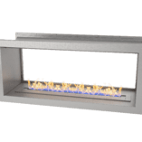 1100 Full Stainless double sided firebox with 800 slimline burner