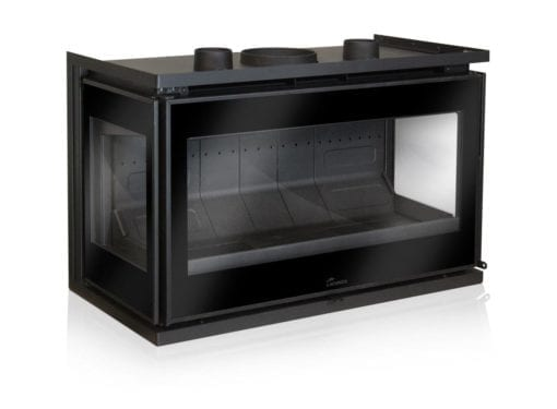 Lacunza Adour CLID three sided fireplace
