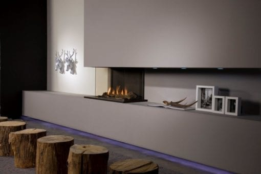 Faber Triple Smart M Gas Fireplace with Logs (3)